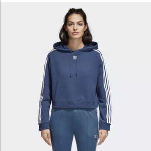 Adidas CY4767 Women originals Cropped hoodie blue